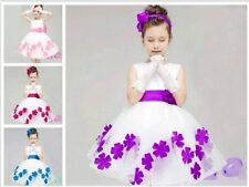 Pageant Party Wedding Bridesmaid formal ballgown prom girl dress flower princess