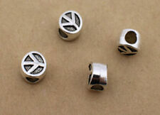 NEW 10/30pcs Silver alloy charm spacer Beads Fit Bracelet findings 10mm