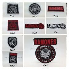 New RAMONES Sew Iron On Patch Embroidered Rock Band Heavy Metal Music Logo Shirt