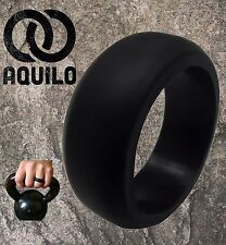 Mens Silicone Rubber Wedding Ring by Aquilo -  band width 9mm - Active+Tough