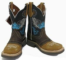 Women's New Leather Western Cowgirl Rodeo Biker Boots Square Toe  SALE