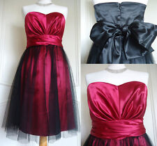 UK STOCK! Short Prom Party Dress Ball Gown Prom Going Out Evening Dress UK 8-16