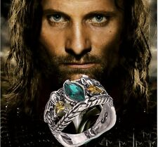 Men's Jewellery Lord of Rings Aragon's Ring Barahir Leopard LOTR Crystal Ring