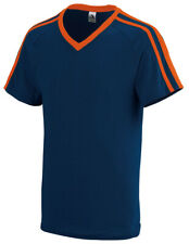 Augusta Sportswear Youth Stripes Tee V-Neck Short Sleeve Jersey T-Shirt. 364