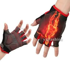 MTB Motorcycle Cycling Bicycle Mountain Bike Gel Pad Half Finger Gloves Guantes