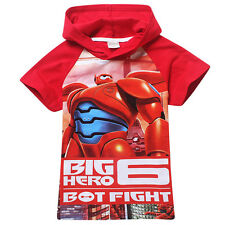 Super Hero Big Hero 6 Kids T-shirt in Red or Blue color