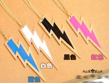 Personality Fashion lightning shape sweater chain long necklace 4colors