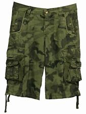 mens cargo shorts camouflage camo waist army fishing hunting waist 30 32 34 36