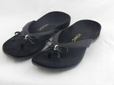 Vionic by Orthaheel Cassie Black Orthotic Thong Sandals PREOWNED
