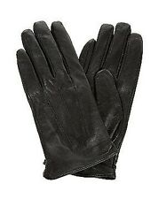 New Look Black Real Leather Ladies Short Gloves BNWT UK S/M M/L Driving Pull On