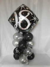 NEW 18th BIRTHDAY PARTY AGE 18 BALLOON DECORATION TABLE CENTRE PIECE DISPLAY