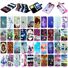 Patterned Leather Stand Flip Wallet Case Cover For Samsung Galaxy Various