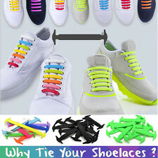 No tie shoelaces Elastic shoe laces strings for Walking, Running, Sneaker lot