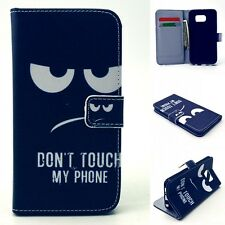 For Samsung Galaxy Wallet Stand card Flip Leather Case Cover dont touch my phone