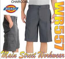 """DICKIES WR557 CHARCOAL Flex 13"""" Relaxed Fit Cargo Short"""