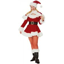Mrs Claus Costume Adult Velvet Miss Santa Christmas Outfits Fancy Dress