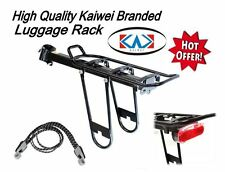 QR Seat Post Clamp Bag Luggage Bike Bicycle Rack Carrier Strap Rear Light Set