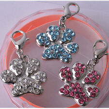 Rhinestone Jewelry Paw Shaped Collar Charm Personalized Dog Accessories Pet Tags