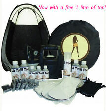 HVLP TS20 SPRAY TANNING KIT,UNIT,TENT,TAN,SOLUTION AND MORE! FAST/FREE SHIPPING