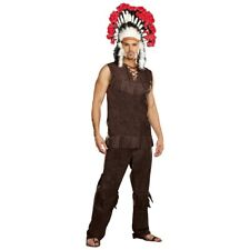 Indian Costume Mens Chief Adult Halloween or Thanksgiving Fancy Dress