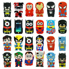 Cute Super Hero Soft Silicone Case Back Cover for Apple iPhone 4G 4S 5S 6 Plus