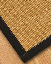 Moda Sisal Carpet Stair Treads [Available In Custom Wide Cotton Border Color]