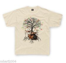 Drummer T-shirt Drum Kit Musical Tree in Kids sizes 1-2yr up to 11yr-12yrs