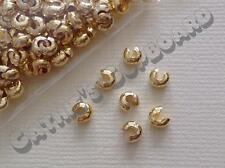 100 x Gold / Silver / Bronze Crimp Bead Covers 4mm -  Jewellery Craft Findings