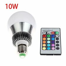 10W Color Changing RGB LED Bulb Lamp Change Light E27 with Remote Control