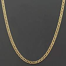 10K YELLOW GOLD 2.0MM DOUBLE CURB LINK CHAIN FREE SHIPPING AND GIFT BOX