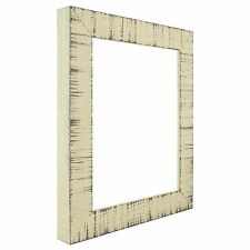 "Craig Frames Lancashire, 1.5""Rustic  Buttermilk Off White Hardwood Frame Shell"