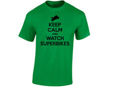 Keep Calm And Watch Superbikes Mens Funny T-Shirt (12 Colours)