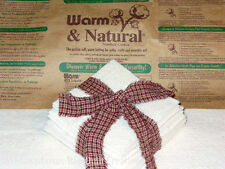 8 inch Warm and Natural Quilt Batting Squares for Rag Quilting
