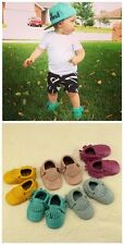 Infant Baby Boy&Girl Tassel Sole Soft Leather Shoes Toddler Moccasin 0-24 Months