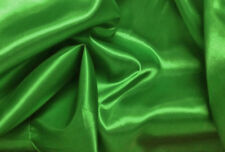 GORGEOUS EMERALD GREEN SILKY SATIN MATERIAL FOR DRESS MAKING VENUE DECORATING