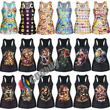 Mujer Summer SEXY Gothic Vest Top Sleeveless T-Shirt Blouse Shirts Camisetas