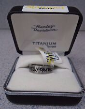 Harley-Davidson Men's High Polish Titanium Ring by Stamper