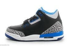 New Kid's AIR Jordan 3 Retro BG - 398614 007 Sports Blue 3s Cement Basketball