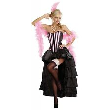 Can Can Costume Parisian Showgirl Burlesque Saloon Girl Halloween Fancy Dress