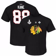 Patrick Kane 2015 RBK Chicago Blackhawks Stanley Cup Jersey Black T Shirt Men's
