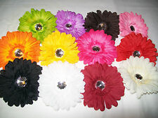 """4"""" Crystal Gerbera Daisy Flowers Hair Clips ,13 Colors To Choose From  22"""