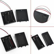 2/3/4 x AA Plastic Battery Holder Case Box With Cover ON/OFF Power Switch Wire