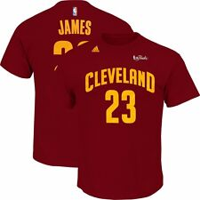 LeBron James ADIDAS 2015 Cleveland Cavaliers Finals Jersey Red T Shirt Men's