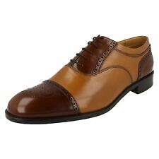 Loake Lifestyle 'Woodstock Tan' Grain Calf/Polished Leather Brogue Shoes  G FIT