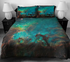 Green Galaxy Comforter Bedding Sets Single/king Duvet Covers Bed Sheet 2 pillows