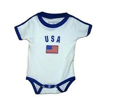 USA World Cup Baby Bodysuit Soccer Football Jersey T-shirt Flag Cotton Dressy