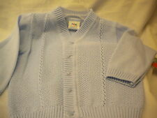 BABY BOY 100% COTTON CARDIGAN  LUCAS BY PEX IN BLUE OR WHITE 0/3-6/12MTHS