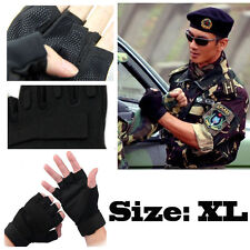 Stock Half Finger Gloves Military Tactical Airsoft Adjustable Protective 3 Sizes