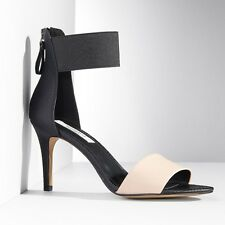 Simply Vera Vera Wang Women's Graham Black Ankle Strap High Heels - Size 8 / 9