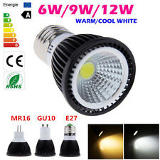 No Dimmable 6W 9W 12W E27 MR16 GU10 LED COB Spot Light Down Lamp Bulb Ceiling LW